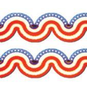 Patriotic Tissue Garland Decoration