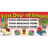 First Day Of School Custom Message Banner
