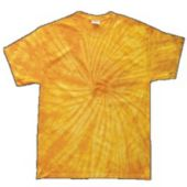 Yellow Adult Tie Dye T-Shirt With Fusion Style Pattern