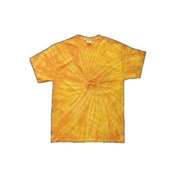 Yellow Adult Tye Dye T-Shirt with Fusion Style Pattern