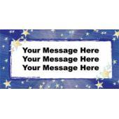 Stars Logo Custom Message Vinyl Banner