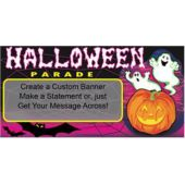 Halloween Parade Ghosts Custom Message Banner