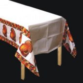 Autumn Turkey Plastic Table Cover