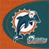 Miami Dolphins NFL Lunch Napkins - 16 Pack