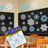 Snowflake Blue & White Cutouts-30 Pack