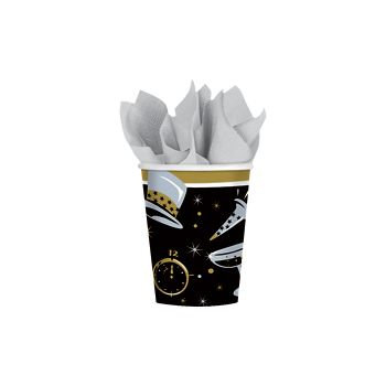 Black Tie New Years   9 oz Cups 36 Value Pack