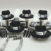 Silver Midnight New Years Party Kit For 50