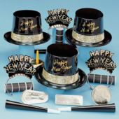 Golden Fantasy New Years Party Kit For 50