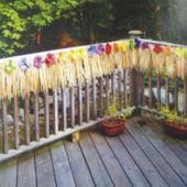 Silk Flower Deck Fringe Decoration