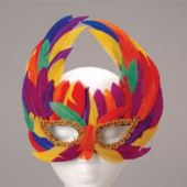 Rainbow Feathered Masks
