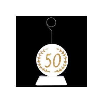Gold Number 50 Balloon Weight