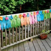 Neon Silk Flower Deck Fringe
