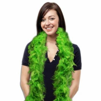 Chartreuse Feather Boa - 6 Foot
