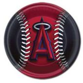 "Los Angeles Angels 9"" Paper Plates - 18 Pack"