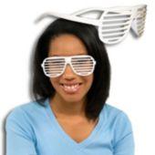 White Slotted Glasses - 12 Pack