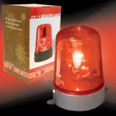 Red-Orange Police Light
