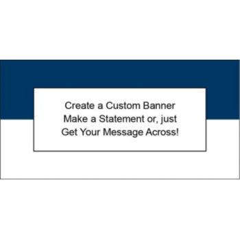 Navy Blue and White Custom Banner