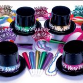 Midnight Metallic New Years Party Kit For 50