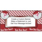 Ho Ho Holiday Custom Banner