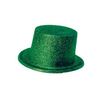 Green Glitter Top Hat