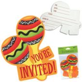 Fiesta Stripes Invitations - 8 Pack