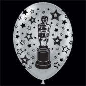 "Silver Award Statue 14"" Latex Balloons - 25 Pack"