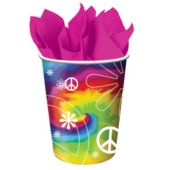 Woodstock Tie Dye 9 Oz Cups - 8 Pack