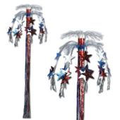 Red, White and Blue Cascade Column Decoration