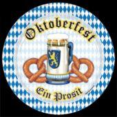 """Oktoberfest Pretzels 9"""" Plates - 8 Pack"""
