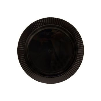 "BLACK PLASTIC   10 14"" PLATES"