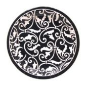 "Black Scroll 7"" Plates - 8 Pack"