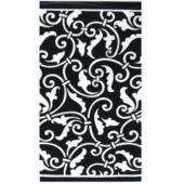 Black Scroll Guest Towels - 16 Pack
