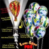 Tie-Dye Lumi-Loons Pro Line For Decorators White LED's - 10 Pack