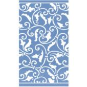 Blue Scroll Guest Towels - 16 Pack