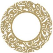 "Gold Scroll 9"" Plates - 8 Pack"