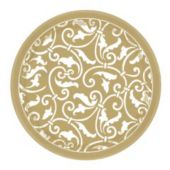 "Gold Scroll 7"" Plates - 8 Pack"