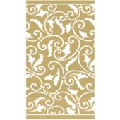 Gold Scroll Guest Towels - 16 Pack