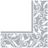 Silver Shimmer Luncheon Napkins - 16 Pack