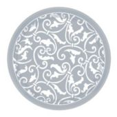 """Silver Scroll 7"""" Plates - 8 Pack"""