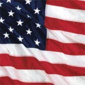 American Flag Beverage Napkins  - 16 Pack