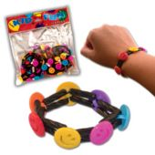 Smiley Face Plug Bracelets - 12 Pack