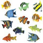 Tropical Fish Plastic Figures - 12 Pack