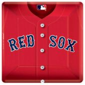 "Boston Red Sox 10"" Square Plates - 18 Pack"