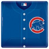 "Chicago Cubs 10"" Square Plates - 18 Pack"