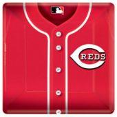 "Cincinnati Reds 10"" Square Paper Plates - 18 Pack"