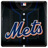 "New York Mets 10"" Square Plates - 18 Per Unit"