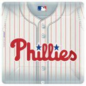 "Philadelphia Phillies 10"" Square Plates - 18 Pack"