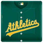 """Oakland A's 10"""" Square Plates - 18 Pack"""