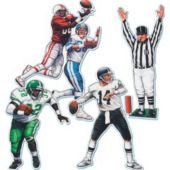 Football Player Cutouts-4 Pack
