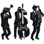 Jazz Trio Cutouts-3 Pack